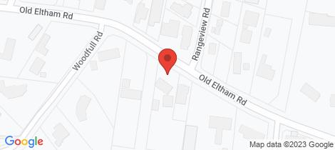 Location map for 160 Old Eltham Road Lower Plenty