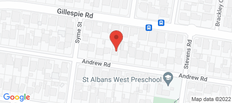 Location map for 44 Andrew Road St Albans