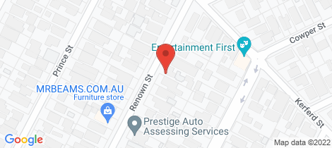 Location map for 1/20 Renown Street Essendon North