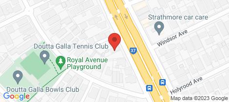 Location map for 71 Bulla Road Essendon North