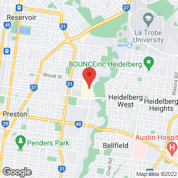 Map of STA Travel at 2-50 Murray Road, East Preston, VIC 3072