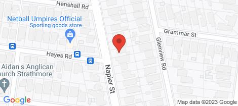 Location map for 256 Napier Street Strathmore