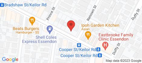 Location map for 204 Keilor Road Essendon North