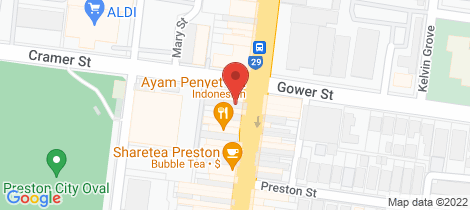 Location map for 389 High Street Preston