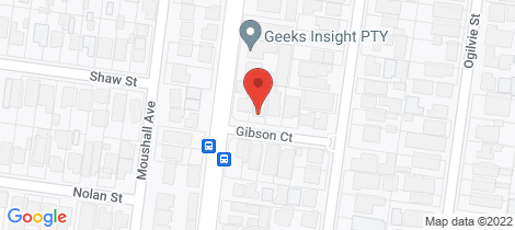 Location map for 6 Gibson Court Essendon