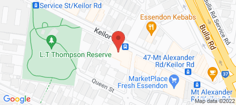 Location map for 302/55 Collins Street Essendon