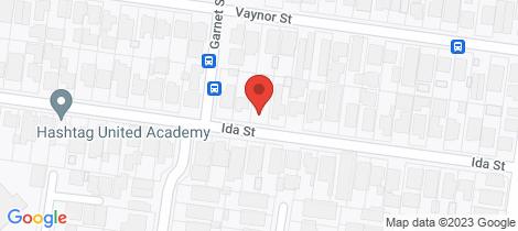 Location map for 30 Ida Street Niddrie