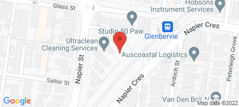Location map for 1 Glass Street Essendon