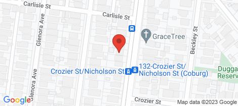 Location map for 109 Nicholson Street Coburg