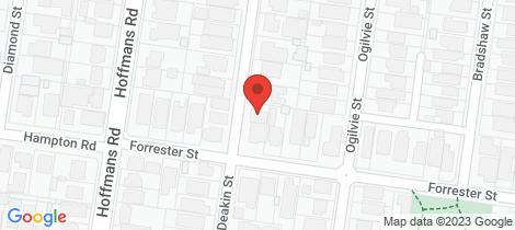 Location map for 30A Deakin Street Essendon