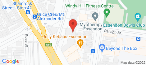 Location map for 304/87-89 Raleigh Street Essendon