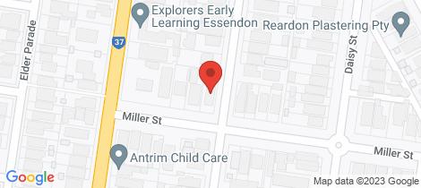 Location map for 10/32 Miller Street Essendon