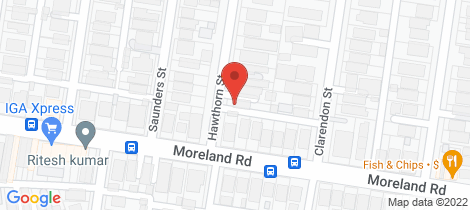 Location map for 1 Hawthorn Street Coburg