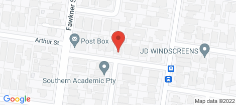 Location map for 4/8 Arthur Street Aberfeldie