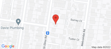 Location map for 78 St Elmo Road Ivanhoe