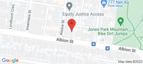 Location map for 2/35 Albion Street Brunswick East
