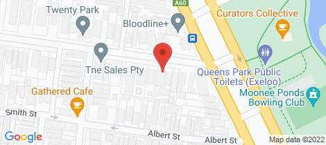 Location map for 12/5 Park Street Moonee Ponds