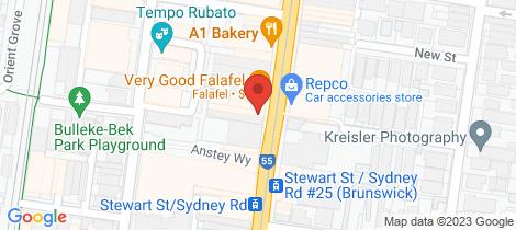 Location map for 401/625 Sydney Road Brunswick