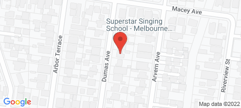 Location map for 12 Dumas Avenue Avondale Heights