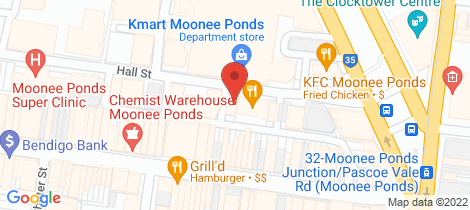 Location map for 502/19 Hall Street Moonee Ponds