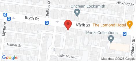 Location map for 5/186 Blyth Street Brunswick East
