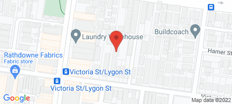 Location map for 4/123 Victoria Street Brunswick East