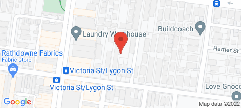 Location map for 1/123 Victoria Street Brunswick East