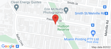 Location map for 8/7 Passfield Street Brunswick West