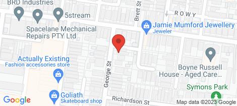 Location map for 32 George Street Brunswick