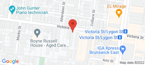 Location map for 1/166 Victoria Street Brunswick East
