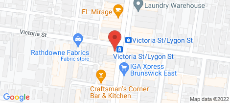 Location map for 331-335 Lygon Street Brunswick East