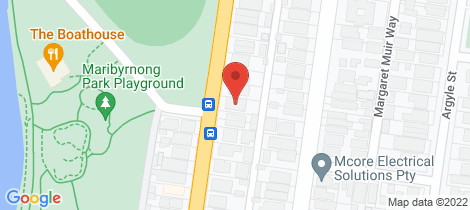 Location map for 26 Orford Street Moonee Ponds