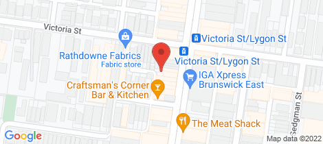 Location map for 327-329 Lygon Street Brunswick East