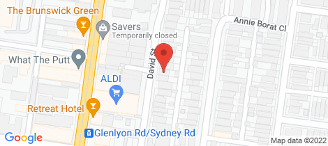 Location map for 22 David Street Brunswick