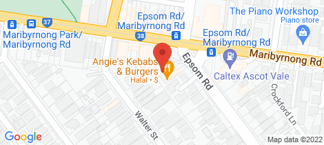 Location map for Shop 2/2-6 Epsom Road Ascot Vale