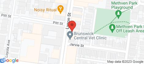 Location map for 220A Lygon Brunswick
