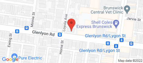 Location map for 3/131 Glenlyon Road Brunswick