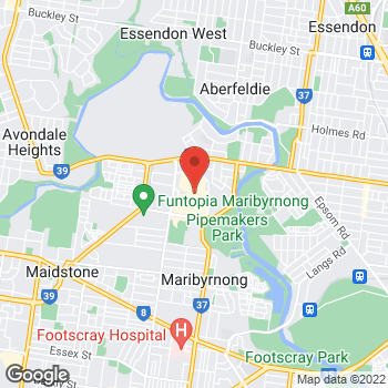 Map of STA Travel at Rosamond Road, Maribyrnong, Highpoint, VIC 3032