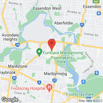 Map of STA Travel at Rosamond Road, Maribyrnong, VIC 3032