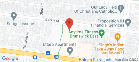 Location map for 133/22 Barkly Street Brunswick East