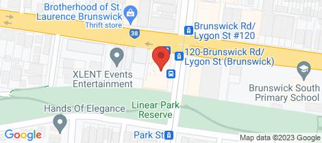 Location map for 403/1 Lygon street Brunswick