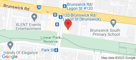 Location map for 225/8 Lygon Street Brunswick