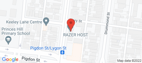 Location map for 28/1066 LYGON STREET Carlton North