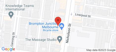 Location map for 759 Nicholson Street Carlton North