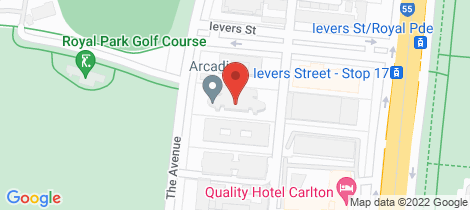 Location map for 403/228 The Avenue Parkville