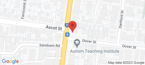 Location map for 2/106 Ascot Vale Road Flemington