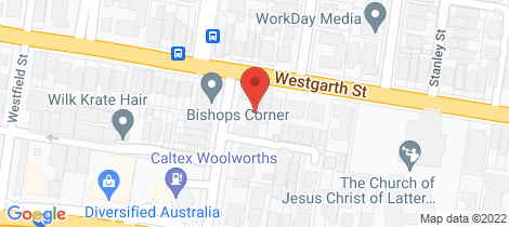 Location map for 8/170 Westgarth  Street Northcote