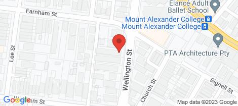 Location map for 121 Wellington Street Flemington