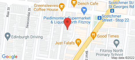 Location map for 24 Egremont Street Fitzroy North