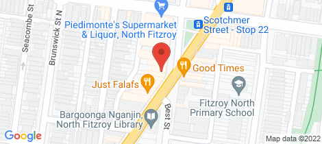 Location map for Level 1/27-29 Best Street Fitzroy North